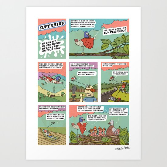 Superbird Art Print