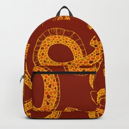 Red & Gold Snakes Backpack