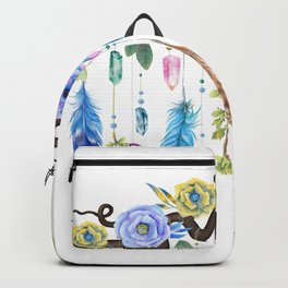 Wild Wood Roses And Twisted Branches Spirit Gazer Backpack