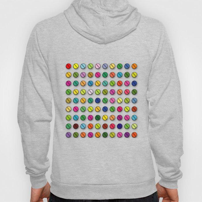 Multi-coloured Pills Pattern Hoody