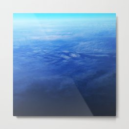 Ombre Arial Metal Print