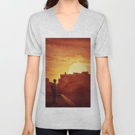 sunset mystery Unisex V-Neck