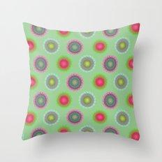 transparent floral pattern 4 Throw Pillow