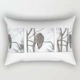 Barred Owl visitor Rectangular Pillow