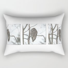 Barred Owl visitor Rectangular Pillow
