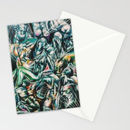 Abstraction of Figures Stationery Cards