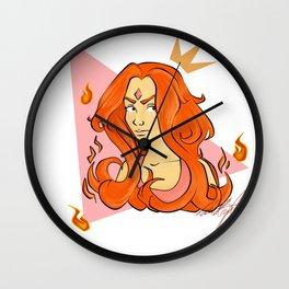 Flame Princess Wall Clock