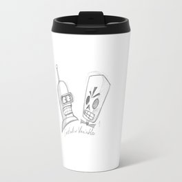 Bender X Grim Fandango Travel Mug