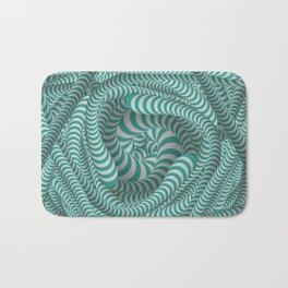 Mint green stripe illusion design Bath Mat