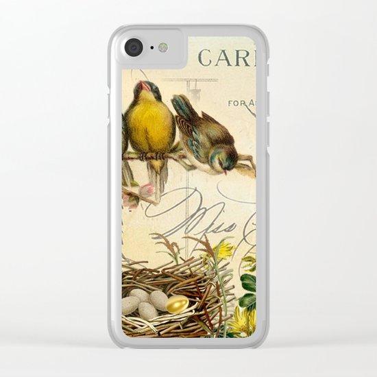 Sweet birds #5 Clear iPhone Case