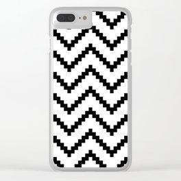 Tribal Chevron W&B Clear iPhone Case
