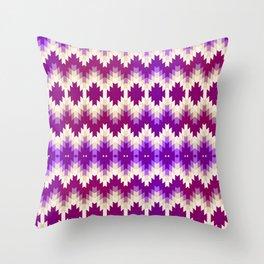 Purple Vintage Geometric Burst Throw Pillow