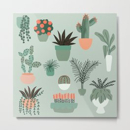 Flower Pots Metal Print