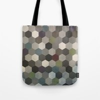 hexagon Tote Bags featuring Hexagon  by Kitty Emsley