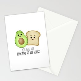 You Are The Avocado To My Toast Stationery Cards