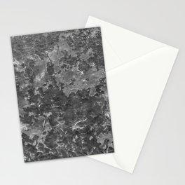 Dark Grey Abstract Grunge Design Stationery Cards