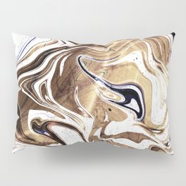 Liquid Bronze and Marble Pillow Sham