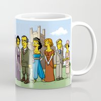downton abbey Mugs featuring Downton Abbey cast by Adrien ADN Noterdaem