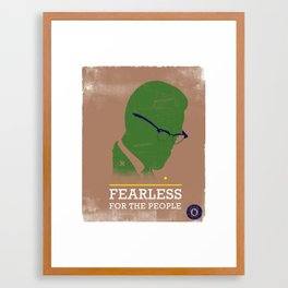 FEARLESS: For The People Framed Art Print