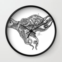 Octopus out Wall Clock