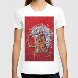 Abstract Beer - Inspired By Pollock  #society6 #wallart #buyart by Lena Owens @OLena Art T-shirt