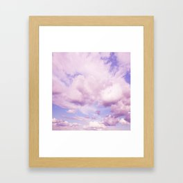 Pink Clouds In The Blue Sky #decor #society6 #buyart Framed Art Print