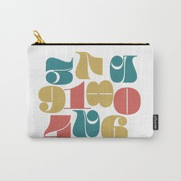 Numerals Carry-All Pouch