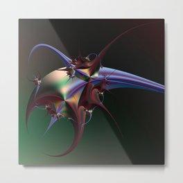 Fractal Insectoid Metal Print