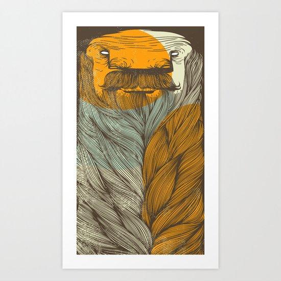 The Bearded Art Print