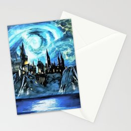Starry night in H magic castle - part 2 Stationery Cards