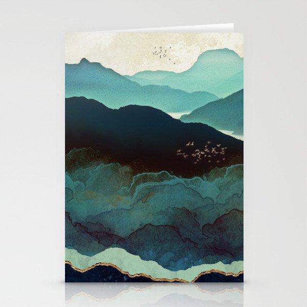 Indigo Mountains Stationery Cards