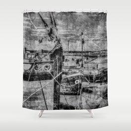 Thames Sailing Barges Vintage Shower Curtain