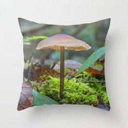 Slender Fungi Throw Pillow