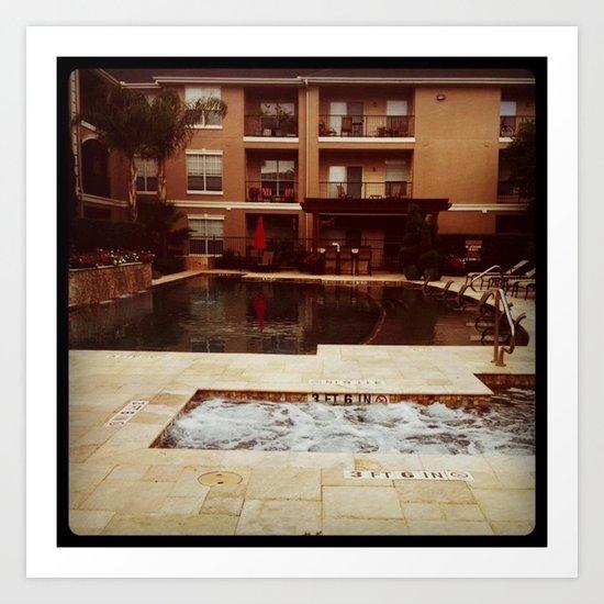 Houston Poolside 2 Art Print