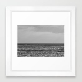 Seaside Landscape Minimal Framed Art Print
