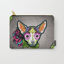 Chihuahua in Moo - Day of the Dead Sugar Skull Dog Carry-All Pouch