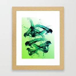 Electric Greens Framed Art Print
