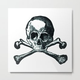 Skull and bones 2 Metal Print