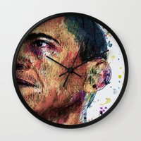 obama Wall Clocks featuring OBAMA by benjamin james