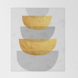 Abstract Golden Art XX Throw Blanket