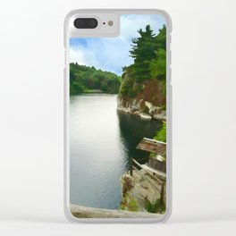 Majestic Mohonk Lake Clear iPhone Case
