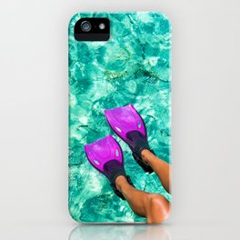 Vacation in the Maldives for the winter holidays iPhone Case