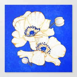 Ultramarine Blue :: Anemones Canvas Print