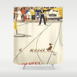 Vintage poster - Copenhagen Shower Curtain