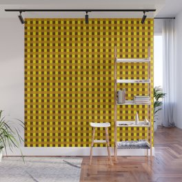 Retro Yellow Squares Wall Mural