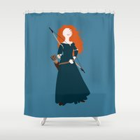 be brave Shower Curtains featuring brave by Live It Up