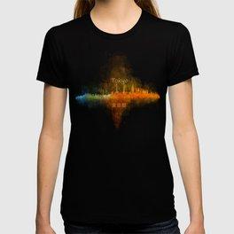 Tokyo City Skyline Hq V4 T-shirt