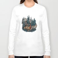 red riding hood Long Sleeve T-shirts featuring Little Red Riding Hood by Anne Lambelet