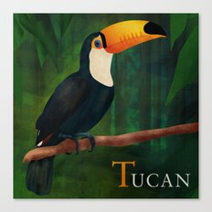 ABC Poster  T - Tucan Canvas Print