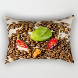 King cabbage and chili coffee Rectangular Pillow